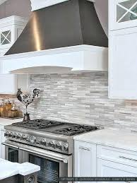 white glass subway tile backsplash gray and modern marble with grey grout