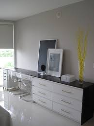 stunning chic ikea office. This Beautiful Desk Is Made By Putting An Ikea Malm 6 Drawer Dresser And Micke Together Covering Them In Cabinet Grade Wood. Stunning Chic Office