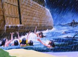 Image result for God shuts Noah in the ark pics