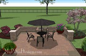 Small Picture DIY Square Patio Design with Seat Wall and Fire Pit 320 sq ft