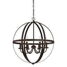 stella mira 6 light oil rubbed bronze with highlights chandelier