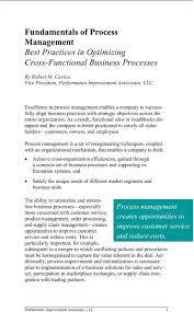 Fundamentals Of Process Management Best Practices In