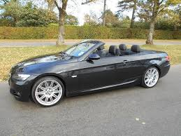 black bmw convertible. used bmw 3 series 325i m sport convertible black 2009 petrol for sale in uk u