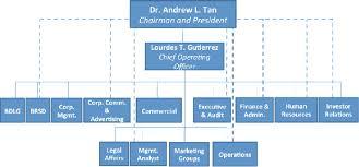 Organizational Chart Of A Company Megaworld Corporation Organizational Chart