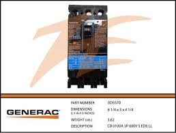 generac parts page 74 ziller electric generac 0d5570 100a 600v circuit breaker 3 phase
