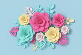 Flower Paper Craft Flower Paper Style Colorful Rose Paper Craft Floral 3d