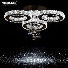 modern led chandeliers light stainless steel crystal lamp for living bedroom diamond ring led res chrome chandelier lighting