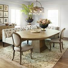 leighton oval extension pedestal dining table in weathered banquette beautiful