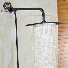 2018 oil rubbed bronze 8 square brass shower head wall mounted shower arm holder 150cm stainless steel hose from cansou 69 23 dhgate com