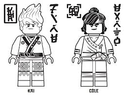 Ninjago Coloring Pages Cole Color Online Lego Ninjago Coloring Pages