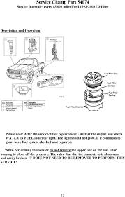 Water Separator Warning Light Pdf Free Download