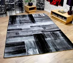 modern square pattern contemporary designer rugs black red green