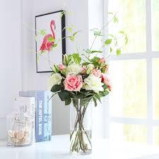 Buy 1 Set Artificial <b>Flower</b> And Vase European Creative Transparent ...