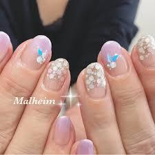 グラデーションホログラムラメパープルシルバー Nails Malheim