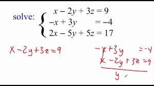 pre calculus 7 3 multivariable linear systems part 1