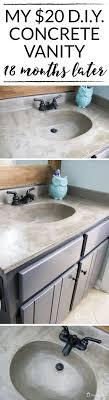 how s it holding up diy concrete vanity update