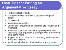 argumentative essay ppt final tips for writing an argumentative essay