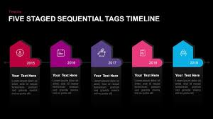 Powerpoint Design 2017 5 Staged Sequential Tags Timeline Powerpoint Template Keynote