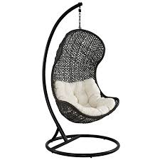 outdoor wicker swing chair with stand