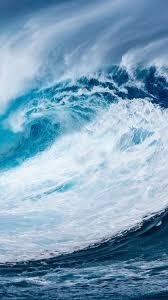 wallpaper wave ocean 4k nature 15789