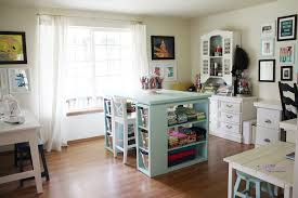 craft room furniture ideas. Small Craft Room Ideas Thread Storage Fabric Pen Sewing Machine White Wooden Chair Book Needle Ribbon Lace Furniture