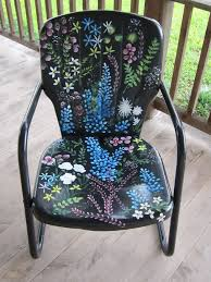 cool painted chairs. best 25+ painting metal furniture ideas on pinterest | paint cool painted chairs r