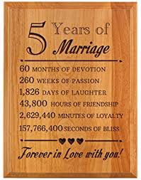 thiswear 5th wedding anniversary gifts forever in love with you wood anniversary gifts 7x9 oak wood