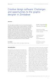 Graphic Designer Brief Introduction Pdf Creative Design Software Challenges And Opportunities