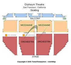 Orpheum Theater Seating Chart Check The Seating Chart Here