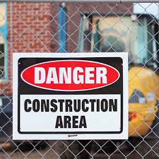 designate construction zones or provide safety warnings with construction signs