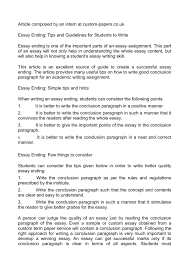 essay ending tips and guidelines for students to write