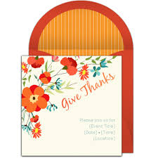 Free Online Thanksgiving Invitations Free Give Thanks Invitations Diy Thanksgiving