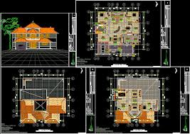 house plan autocad drawing bibliocad architecture plans 52834