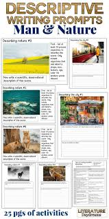 best writing visual prompts images handwriting  descriptive writing tasks on man and nature
