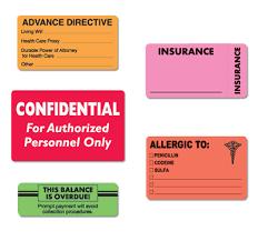 Medical Chart Labels Patient Chart Label Alerts Franklin