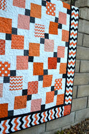 Best 25+ Patch quilt ideas on Pinterest | Baby quilt patterns ... & Halloween Disappearing 9-Patch Quilt tutorial by Jedi Craft Girl. Featuring  black & orange Adamdwight.com