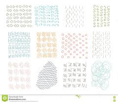 Banner Patterns Unique Hand Drawn Circle Hipster Ink Textures Swirl Retro Patterns For
