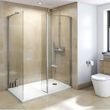 fixed glass shower panel inspirational mode luxury 8mm walk in enclosure pack with tray 1600 x