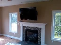 Snazzy Over Fireplace Ideas Fireplace Plus Tv Above Ideas For ? Tv Mounted  Over Fireplace in
