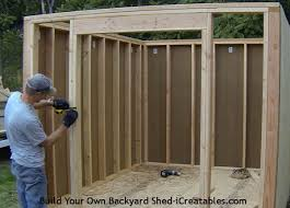 Framing A Wall For Shed Step 4 INSTALL SIDING AROUND THE SHED DOOR