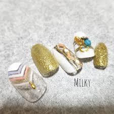 夏海リゾートデートハンド Milky1018のネイルデザインno3239613