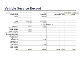 Business Free Car Maintenance Log Printable Record Template