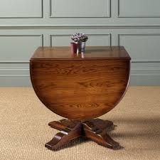 dining room furnishing design and decoration using oval solid cherry wood small round drop