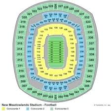 Giants Stadium Seating Chart With Seat Numbers Metlife Stadium Seat Map Stadium Seat Map Awesome Pin