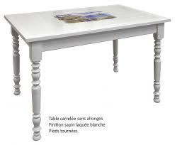 Table Rectangulaire Carrelée Avec 2 Allonges Made In France