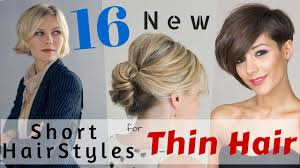 Best Hair Style For Thin Hair 16 short hairstyles for thin hair 2015 youtube 6441 by wearticles.com