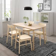Lisabo Rönninge Tisch Und 4 Stühle Eschenfurnier Birke In 2019