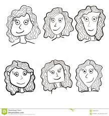 Set Of Cute Girl Characters Cartoon For Your Design Vector