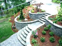 Backyard Retaining Wall Designs Enchanting Landscaping Wall Ideas Retainer Landscaping Stone Wall Ideas