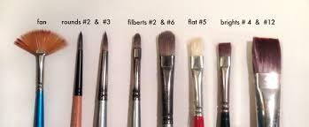 oil paint brush shapes